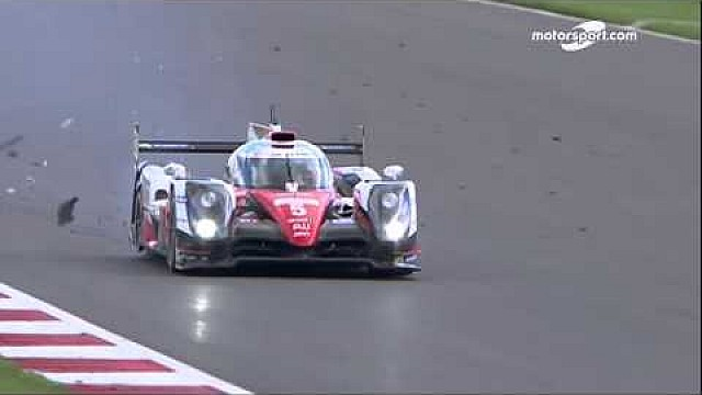 6 Hours of Silverstone: tire explosion on the Toyota #5