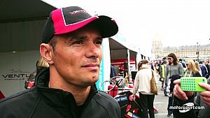 Stéphane Sarrazin avant l'ePrix de Paris