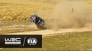Spectaculaire crash Jari-Matti Latvala in SS14 Rally van Argentinië