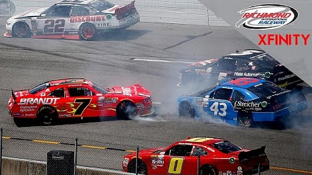 Big wreck collects multiple cars at Richmond