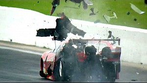 Pro Mod driver Jonathan Gray hits the Wall Hard in Houston #SpringNats