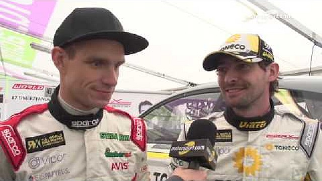 Timerzyanov and Baumanis Interview - World RX 2016 - Belgium