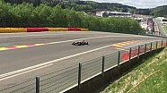 Enorme crash voor Nikita Zlobin in Eau Rouge