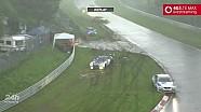 24 Saat Nürburgring - Dolu yapmuru sırasındaki kazalar