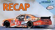RECAP: Suarez makes NASCAR history at Michigan