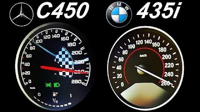 Bmw 435i Vs Mercedes C450 Acceleration 0 250 Autobahn Top Speed
