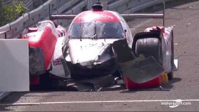 Le Mans 24h: #44 Manor Racing crash