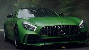 Hamilton introduces the new Mercedes-AMG GT R