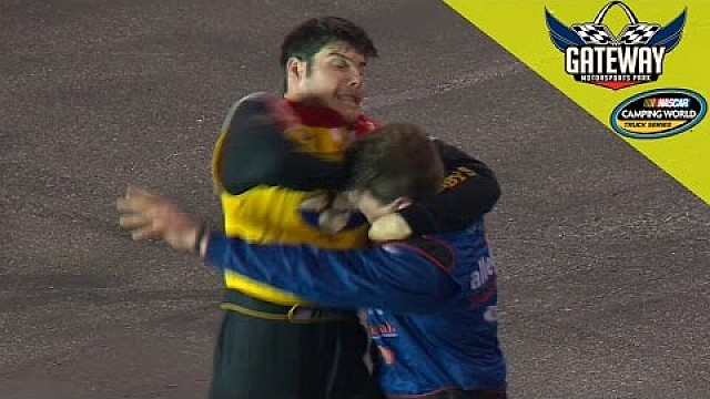 Townley and Gallagher fight after crash