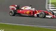 Britanya GP: Silverstone'da Vettel'in spin attığı an