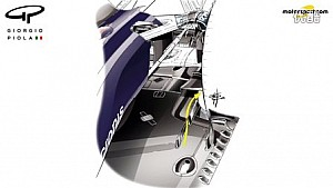 Giorgio Piola - 小红牛STR11德国站底板及刹车导管变化