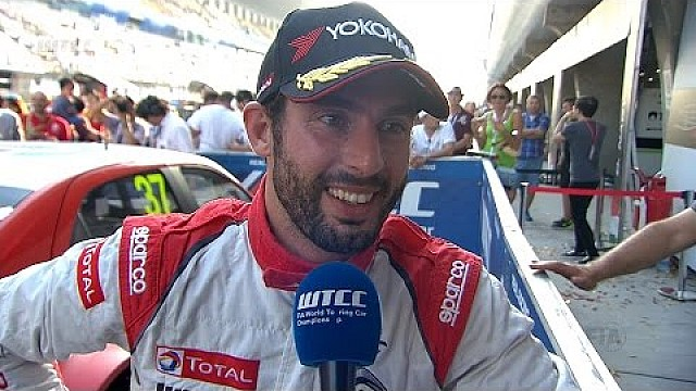 Interview - José María López wins WTCC Main Race in China