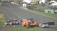Crash au départ d'une course de TCR Benelux au Luxembourg