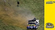 Hamlin bumps Keselowski, grass destroys No. 2 car