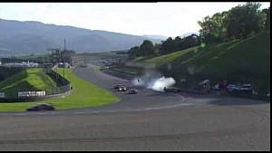 Italiaanse GT - Zware crash Mirko Bortolotti