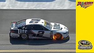 Keselowski goes to garage with engine issues