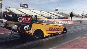 J.R. Todd makes his first run in the DHL Funny Car