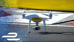 Puerto Madero visto dal drone della DHL