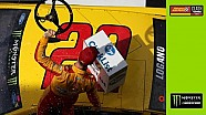 Recap: Last lap wreck gives Logano edge
