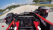 Visor Cam: Graham Rahal at Sebring International Raceway