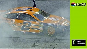 Keselowski holds off Larson for Atlanta win