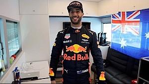Der Fahrerraum von Daniel Ricciardo