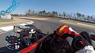 Visor cam: Graham Rahal at Barber Motorsports Park