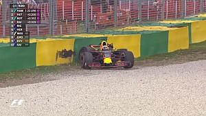 GP d'Australie - Le crash de Daniel Ricciardo en qualifications