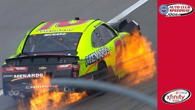 Fiery hit for Menard at Auto Club