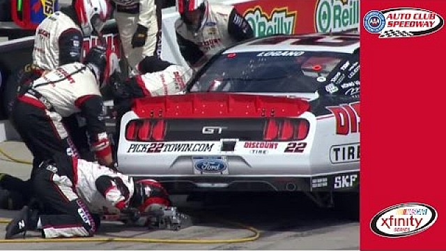 Pit road problems for Logano