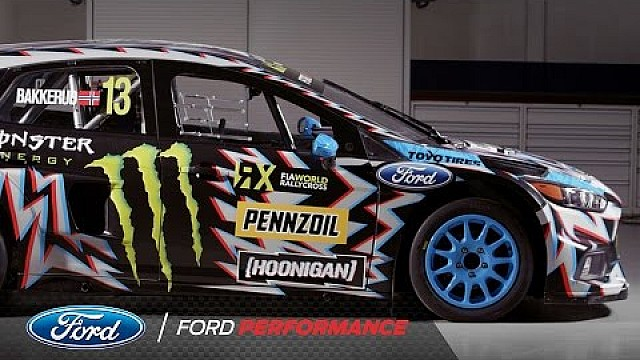 2017 Hoonigan Racing: Death Spray Custom Focus RS RX for the FIA World Rallycross Championship