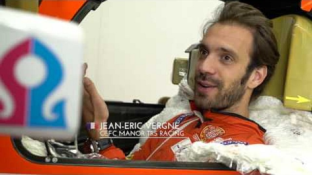 Seat fitting for Jean-Eric Vergne - Manor WEC