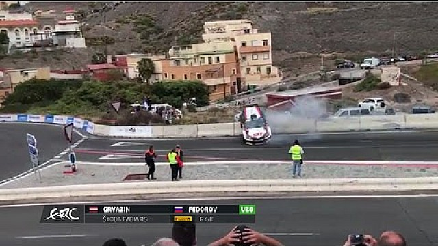 Rally Islas Canarias 2017 - Crash Nikolay Gryazin