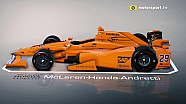 De IndyCar van Alonso in 3D