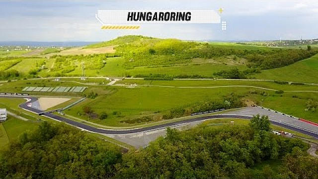 Hungaroring from the air, just before the WTCC race of 2017