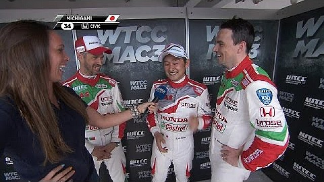 Interview with the WTCC MAC3 winners at the Hungaroring 2017
