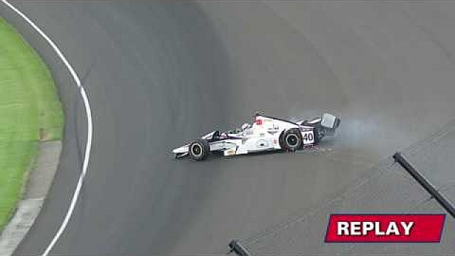 Indy 500: Training, Crash von Veach