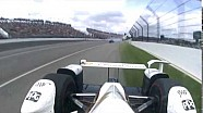 Castroneves a bordo vista del choque de Dixon