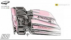 Force India's front wing changes for the Canadian GP
