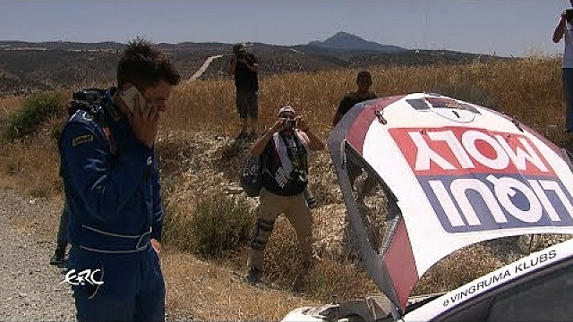 Cyprus rally 2017 - Gryazin's problem on SS5
