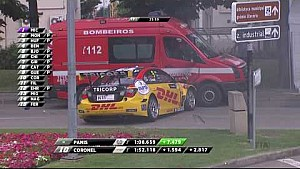 2017 WTCC at Vila Real, Tom Coronel crashing into a recovery vehicle