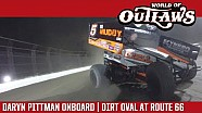 World of Outlaws Craftsman sprint cars Daryn Pittman dirt oval at Route 66 June 27, 2017 | Onboard