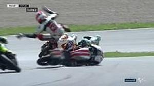 Kecelakaan Arbolino di Moto3 Sachsenring