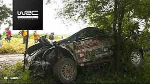Rally Poland 2017: Crash Osian Pryce