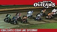 World of Outlaws Craftsman sprint cars Cedar Lake Speedway July 7, 2017 | Highlights