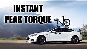 How do electric cars produce instant maximum torque?