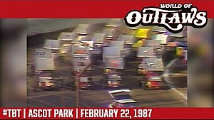 #ThrowbackThursday: World of Outlaws Craftsman sprint cars Ascot Park february 22, 1987