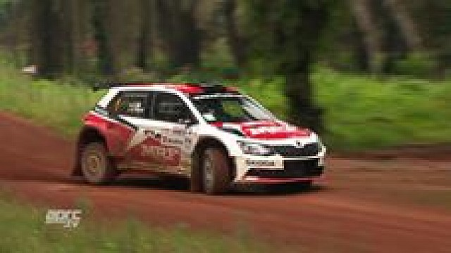 APRC Malaysia Rally 2017 - Team MRF in action