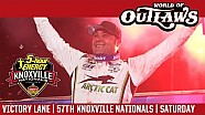 World of Outlaws Craftsman sprint cars Knoxville raceway August 12, 2017 | Victory lane