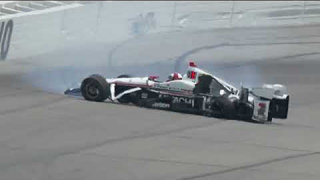 Helio Castroneves incident at Pocono raceway